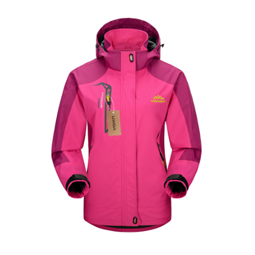 Lixada Outdoor Climbing Waterproof Jacket Windproof Raincoat Sportswear Traveling Cycling Sport Detachable Hooded Coat for Women