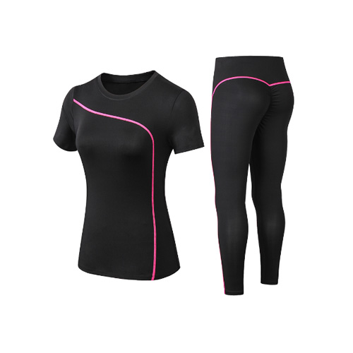 Yoga Set Quick Dry 2 Piece Female Short-sleeved long Pants Outdoor Sportswear Fitness suit Plus Size Sport outfit for woman